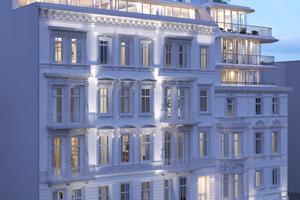 02 Der Entwurf von BAID verbindet die historische Fassade mit einem modernen, vollständig neu erstellten Baukörper