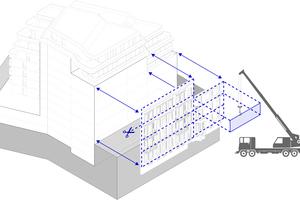 06 Schematische Darstellung der Fassadendemontage und des Rückbaus