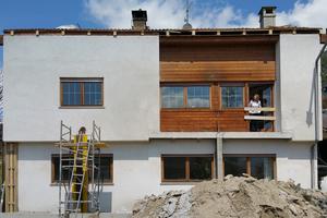 Aus wirtschaftlichen Gründen sollten im Erdgeschoss und 1.Obergeschoss des Bestandes keine tragenden Bauteile und auch keine Öffnungen in der Fassade verändert werden