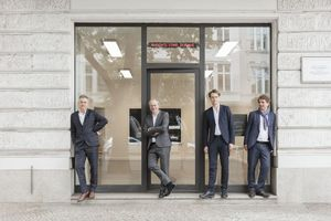 O&O Baukunst, Berlinv.l.n.r.: Christian Heuchel, Roland Duda, Florian Matzker und Markus Penellwww.ortner-ortner.com