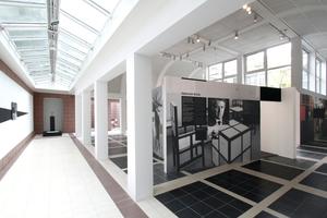 Glasdächer und Glasfassaden auch im Ausstellungsteil des DAM (hier: eine Ausstellung über die Geschichte des Hauses im DAM 2014)