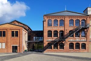 Das neue Studierendenhaus im denkmalgeschützten Gebäudekomplex der ehemaligen Textilfabrik Gottschalk