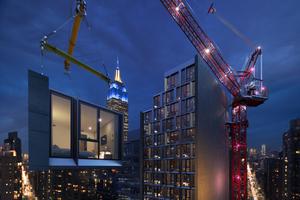 In NYC entsteht derzeit das höchste Hotelgebäude in Modulbauweise