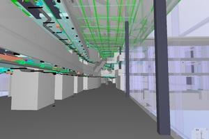 "Screenshot BIM-Modell ""Innenraum – Architektur/Tragwerk/TGA"""