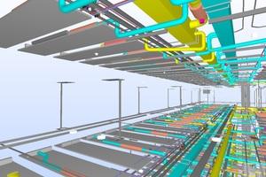"""Screenshot BIM-Modell """"Bürobereich – Architektur/ TGA"""""""