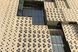 Die Fassade des Knowledge Center in Riad, KSA