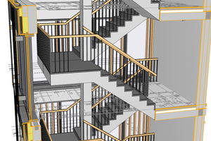 Bauelemente und konstruktive Details, die sich wiederholen, können mittels künstlicher Intelligenz automatisch identifiziert werden – dies setzt Kapazitäten frei, um sich mit komplexen Knotenpunkten oder anspruchsvollen Treppenkonstruktionen zu befassen
