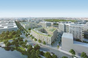 Das Quartier Heidestrasse ist ein Teilprojekt des neuen Stadtteils Europacity, der in Berlin entsteht. Fertigstellung ist für 2023 geplant. Architekten sind RobertNeun Architekten, gmp Architekten, EM2N Architekten sowie Collignon Architektur und CKRS Architekten, alle Berlin