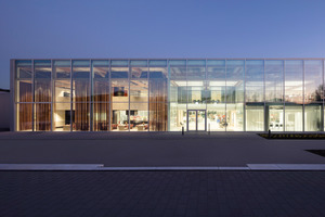 Die transparente und filigrane Hülle der Brunner Innovation Factory<br />