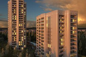 Don Camillo und Peppone, Sanierungsprojekt der Neuland Wohnungsgesellschaft mit Ergänzung neuer Fassaden