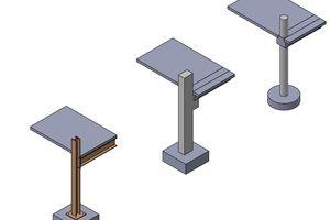 10 Das statische System ist bauartabhängig: Stahl – Stahlanschluss nachgeahmt in Stahlbetonfertigteil – fertigteilgerechtes System