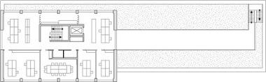 Grundriss 5. Obergeschoss, M 1:750