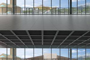Visualisierung Ausblicke Nationalgalerie mit (unten) und ohne Herzog & de Meuron