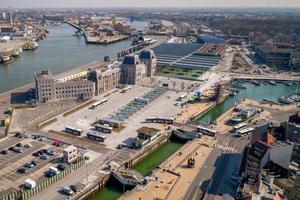 Der Bahnhof Ostende ist einer der verkehrsreichsten Knotenpunkte der niederländischen Küste