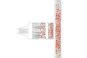 Folienbeklebung Dachaufsicht, M 1:1250