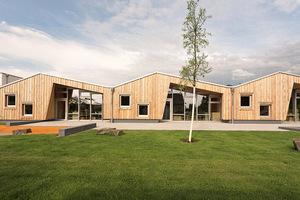 Kita in elementierter Holzbauweise, Bonn Architektur: rheintreue architekten Koch/Graffelder, Köln; Landschaftsarchitektur: Lill + Sparla Landschaftsarchitekten, Köln
