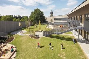 Kindertagesstätte KiKu Burgmäuse, Mülheim/Ruhr Architektur/Innenarchitektur/Stadtplanung: Koschany + Zimmer Architekten, Essen; Landschaftsarchitektur: freiraumplanung wolf, Berlin
