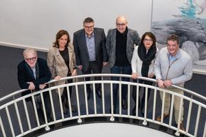 Die Jury zum Lichtdesign-Preis 2020, v.l.: Prof. Thomas Röhmhild,  Dorette Faulhaber, Dr. Jürgen Waldorf, Prof. Dr.-Ing. Paul Schmits, Corinna Arens und Markus Helle