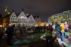 Luminale 2018:Römer, Frankfurt fades