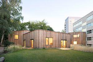 Das Hortgebäude der Waldorfschule am Prenzlauer Berg gehörte zu den prämierten Objekten im HolzbauPlus-Wettbewerb 2018