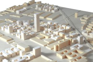 Die Siemensstadt 2.0 im Modell (O&O Baukunst)