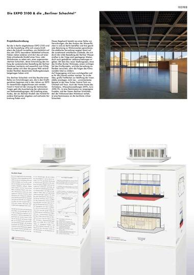 """Fachsparte Freie Kunst """"Expo 2100 & die ´Berliner Schachtel´"""": Sonderpreis, gestiftet von der Hans und Charlotte Krull Stiftung Friedrich Barth, Alexander Witt (Bauhaus Universität Weimar, UdK Berlin)"""