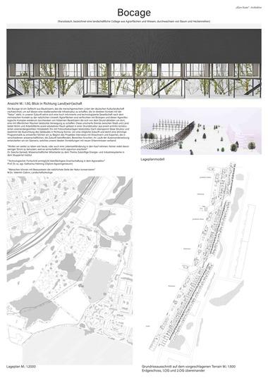 """Fachsparte Architektur: """"Bocage"""": Sonderpreis, gestiftet von Heinz Diesing über die Karl-Friedrich-Schinkel-Stiftung des AIV Felix Schuschan, Leon Hidalgo (FH Münster)"""