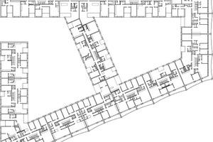 Grundriss Obergeschoss 2–4, M 1:1250