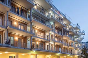 """Das Wohnprojekt """"Gleis 21"""" umfasst 34 unterschiedlich große Wohneinheiten. Es gibt vier """"Flex""""-Wohnungen für Flüchtlige und eine Wohnung für Gäste"""