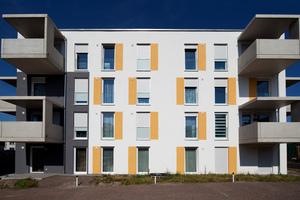 """04 Die vier Mehrfamilienhäuser """"Am Wörthböschel"""" in Baden-Baden verbinden kostengünstiges Bauen mit individuellem Wohnen (Kühl + Schmidt Architekten AG, Karlsruhe)"""