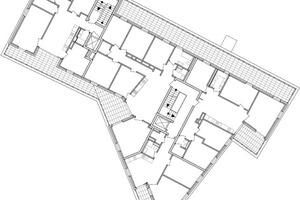 Grundriss Staffelgeschoss, M 1:500
