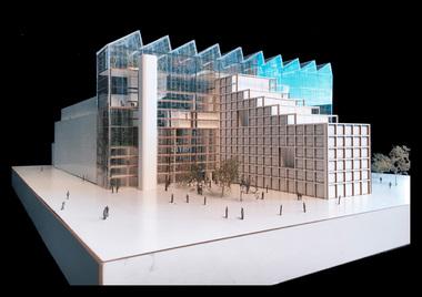 """Jing Zhao (3. Preis), TU Braunschweig, Projekt """"Green Hub"""", Modell"""