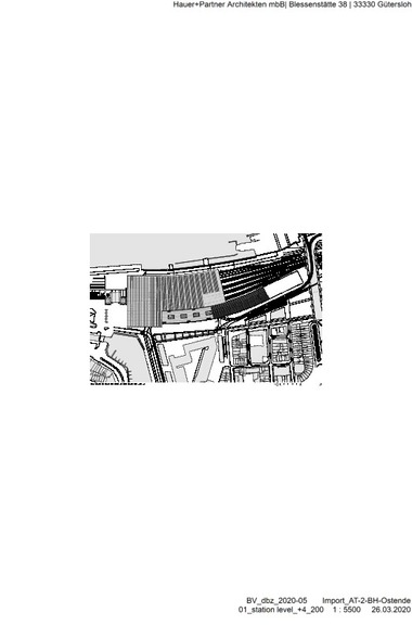 Grundriss Dachaufsicht, M 1 : 5500