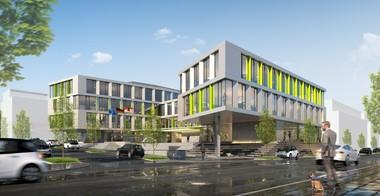 """Das Projekt """"Ocean 21"""" in Dortmund von Drahtler Architekten. Das Gebäude wird komplett in BIM geplant – Architektur sowie Fachplanungen. Es ist eingebunden in ein Forschungsprojekt, das die Anforderungen für einen BIM-basierten Bauantrag in Deutschland definiert"""