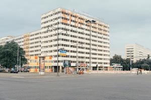 """Blick auf die Bausubstanz am """"Allesandersplatz"""""""