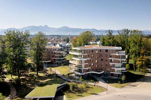 Für das gesamte Gebiet des Spinnereiparks wurde ein städtebauliches Konzept mit einer Wohnnutzung aus zwei Gebäudetypen entwickelt, das aus fünf so bezeichneten Y-Häusern und vier Conradty-Häusern besteht, die in fünf Bauabschnitten realisiert werden<br />
