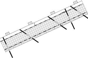 07 Die Lagesicherung des Schichtenpaketes mit der Hochleistungsdämmung erfolgt über die Konterlattung mit Spezialschrauben (Systemschrauben zur Lastabtragung und zur Windsogsicherung)