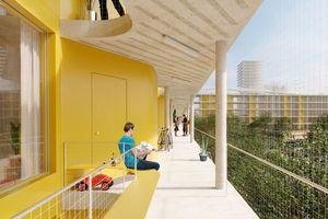 Laubengangerschließung für Sozialen Wohnungsbau der vierten Generation? Die Visuals sind vielversprechend