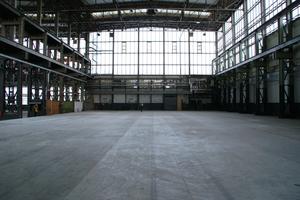 Die Halle vor ihrer Transformation