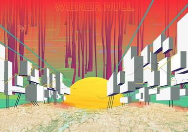 """Wiener Null: Wiens terrestrische Zonen Natascha Peinsipp, Felix Steinhoff asphalt-kollektiv (AT / DE) Das Projekt erzählt die Geschichte einer  radikalen Transformation Wiens, den Umgang  mit der Ressource Boden und dessen  Demokratisierung. Als Reaktion auf den Klimawandel beginnt eine sukzessive und  quartiersweise Erneuerung der Stadt, welche am Wiener Nordwestbahnhof ihren Anfang nimmt. Das """"Wiener Null"""", als sich entfaltendes Netzwerk von 3-dimensionalen terrestrischen Zonen, umfasst Bereiche ohne klare Bestimmung, sowie funktionale und heterogen nutzbare Stadträume, in denen der Mensch nicht mehr als zentral, sondern als abhängig  betrachtet wird. Es entwickeln sich Hybride aus Natur und Künstlichkeit – eine Überlagerung der Menschen-, Maschinen-, Tier- und Pflanzenwelt."""
