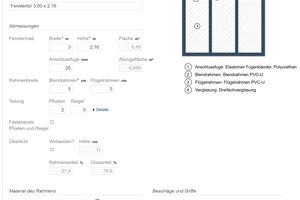 02 Nach der Eingabe generiert der Fensterassistent automatisch eine auf den Eingaben basierende Grafik