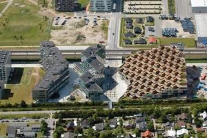 VM-House und Mountain Dwellings, Kopenhagen, 2008 von oben<br />
