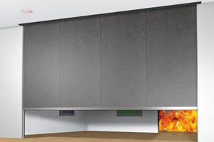 Mit dem mehrlagigen Brandschutzgewebe kann eine Schutzdauer von EI60 erreicht werden