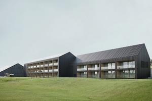 Die Architekten bauten den Bestand weiter und griffen für die neuen Gebäude den traditionellen Haustypus des Schwarzwaldgehöfts auf