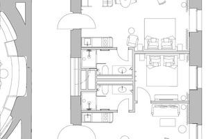Grundriss Gästezimmer, M 1:150