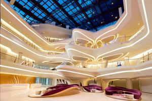 Das ME Dubai gilt als das einzige Hotel weltweit, bei dem Innenräume und Äußeres von Zaha Hadid gestaltet wurden