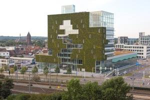 """Das neue Rathaus in Venlo wurde als eines der ersten Gebäude nach dem Prinzip der Kreislaufwirtschaft, """"Cradle to Cradle"""" (C2C), entworfen und gebaut."""