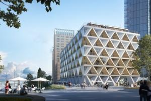 Bis 2022 entsteht in Düsseldorf ein rundum nachhaltiges Holzhybrid-Bürogebäude: The Cradle. Es wird in Anlehnung an das Cradle to Cradle-Konzept realisiert.