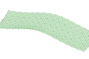 Flächenmodel aus Dreieckselementen.