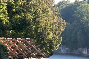 Ragt über die Isar: die Holzbrücke von Atelier Bow-Wow